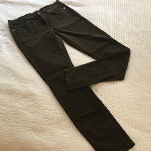 Olive green Seven jeans